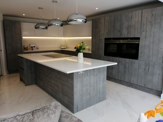 Just Fitted Kitchens Concrete Effect Kitchen Doors