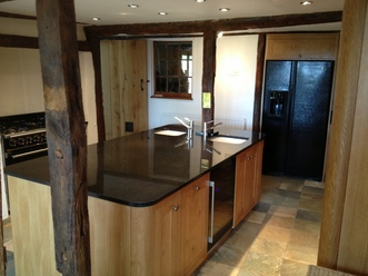 Solid Oak Kitchen with large Island