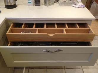 Internal solid Wood drawer